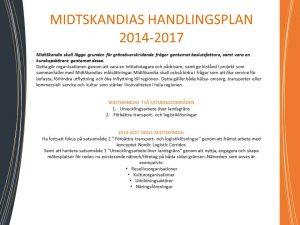 MidtSkandias Handlingsplan 2014-2017